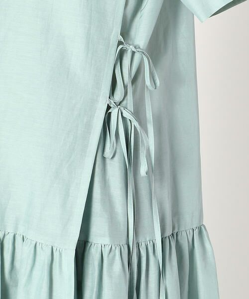COMME CA BLANC D'OEUF / コムサブロンドオフ マタニティウェア | 〔マタニティ〕ギャザーフレアTシャツドレス | 詳細7