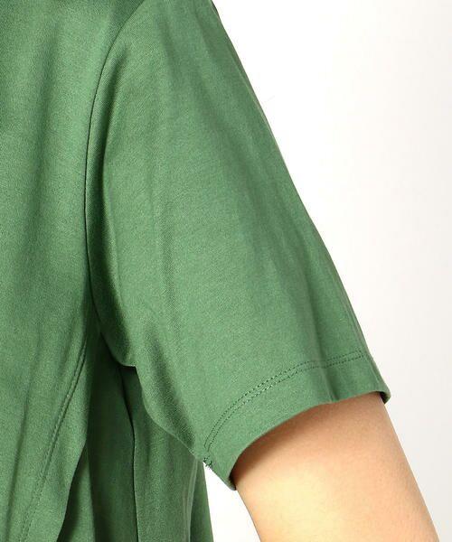 COMME CA BLANC D'OEUF / コムサブロンドオフ マタニティウェア | 〔マタニティ〕ロゴプリント入りTシャツ | 詳細8