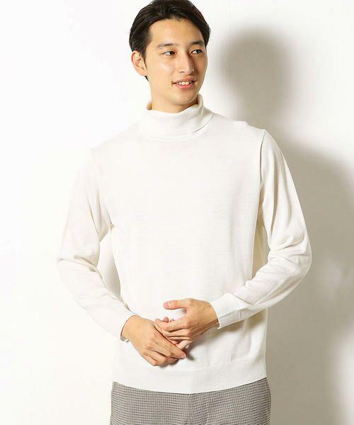 COMME CA COMMUNE / コムサコミューン ニット・セーター | シルケット タートルネック ニット(ホワイト)