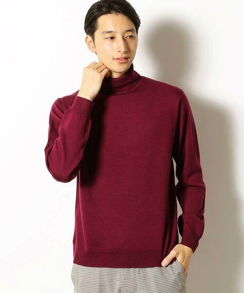 COMME CA COMMUNE / コムサコミューン ニット・セーター | シルケット タートルネック ニット(ワイン)