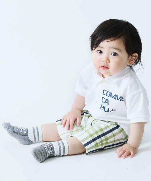 COMME CA FILLE / コムサ・フィユ ベビー・キッズウエア | ドビージャージー ポロシャツ(ホワイト)