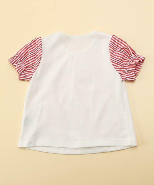 COMME CA FILLE / コムサ・フィユ ベビー・キッズウエア | レーシーストライプTシャツ | 詳細1