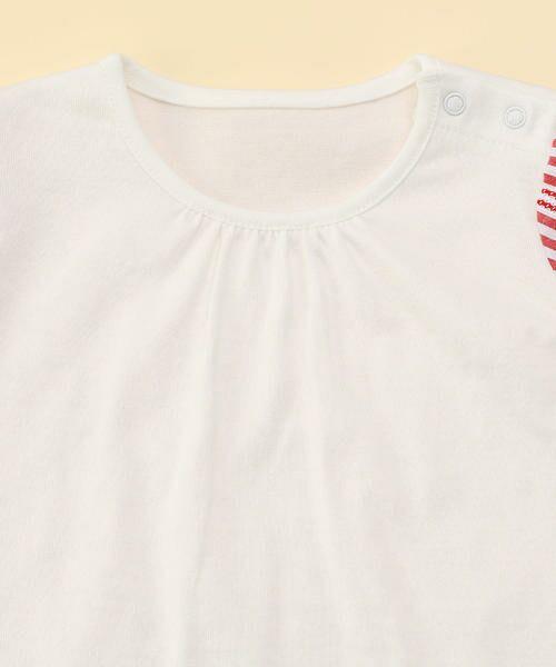COMME CA FILLE / コムサ・フィユ ベビー・キッズウエア | レーシーストライプTシャツ | 詳細2