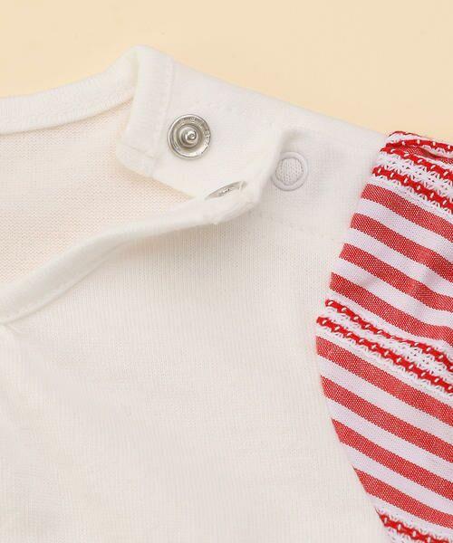 COMME CA FILLE / コムサ・フィユ ベビー・キッズウエア | レーシーストライプTシャツ | 詳細5