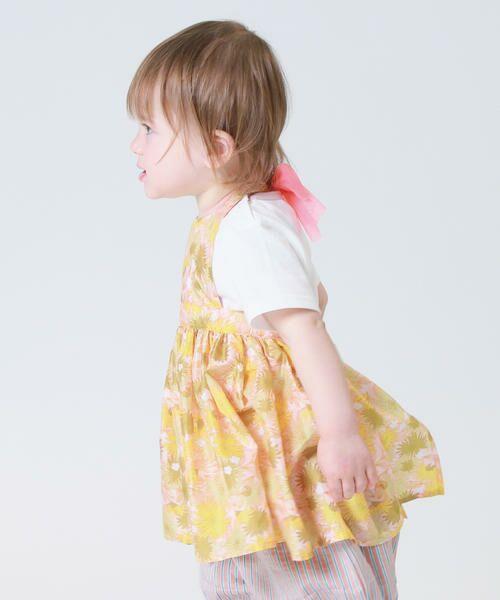 COMME CA FILLE / コムサ・フィユ ベビー・キッズウエア | 花柄エプロンドレス | 詳細1