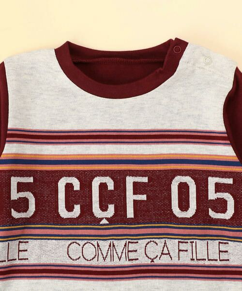 COMME CA FILLE / コムサ・フィユ ベビー・キッズグッズ | パネルボーダーTシャツ | 詳細2