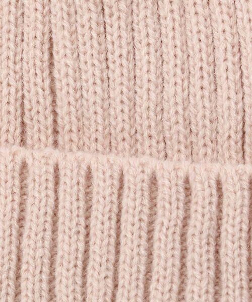 COMME CA FILLE / コムサ・フィユ ニットキャップ | ポンポン付きニット帽 | 詳細1