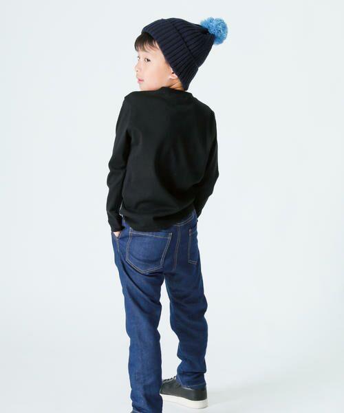 COMME CA FILLE / コムサ・フィユ ニットキャップ | ポンポン付きニット帽 | 詳細7