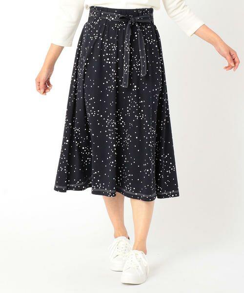 着心地良く、手書き風のオリジナルドットが新鮮なスカートが登場!