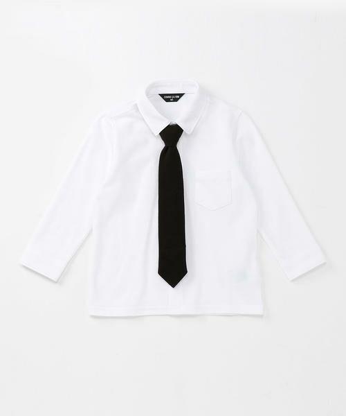 COMME CA ISM / コムサイズム シャツ・ブラウス | ネクタイ付きシャツ(90~130cm)(ホワイト)