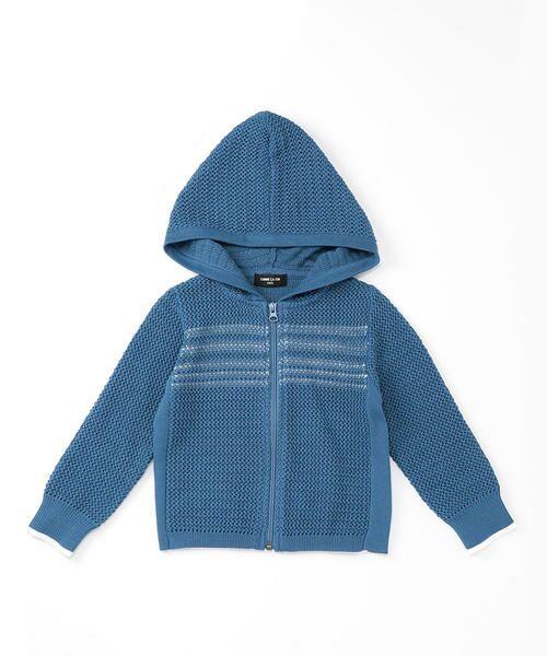 252ddc0d881e5 セール メッシュ編みニットパーカ (ニット・セーター)|COMME CA ISM ...