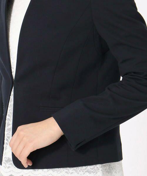 COMME CA ISM / コムサイズム その他アウター   《UVカット/ウォッシャブル》 ジャージー ノーカラー ジャケット 日本素材   詳細10
