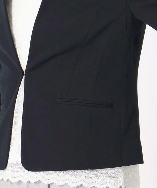 COMME CA ISM / コムサイズム その他アウター   《UVカット/ウォッシャブル》 ジャージー ノーカラー ジャケット 日本素材   詳細11