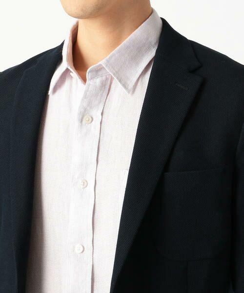 COMME CA ISM / コムサイズム テーラードジャケット | 亀甲カノコ ジャケット | 詳細5