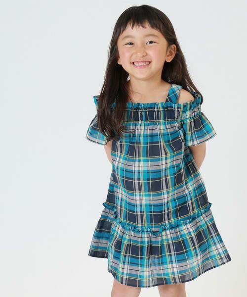 9c738a5054ca2 キッズ・ベビーおそろいアイテム マドラスチェック ワンピース (ドレス ...