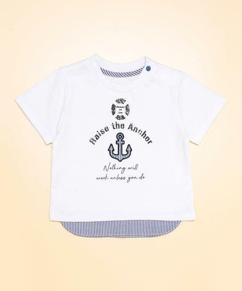 bb35922426405 キッズ・ベビーおそろいアイテム レイヤード 半袖 Tシャツ(80・90 ...