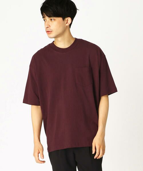 COMME CA ISM / コムサイズム Tシャツ   日本の伝統色 ポケット付 Tシャツ(濃色)