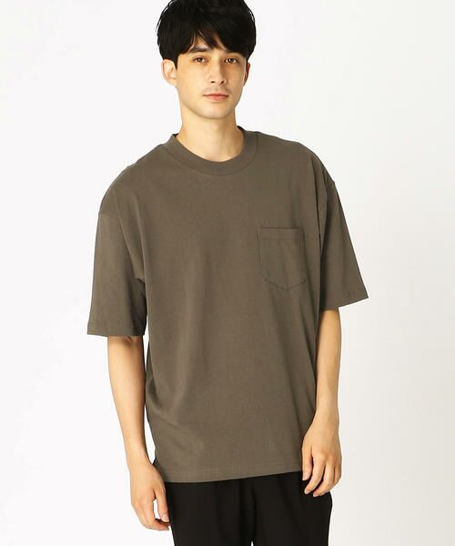 COMME CA ISM / コムサイズム Tシャツ   日本の伝統色 ポケット付 Tシャツ(鈍色)