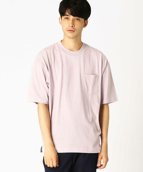 COMME CA ISM / コムサイズム Tシャツ   日本の伝統色 ポケット付 Tシャツ(薄色)