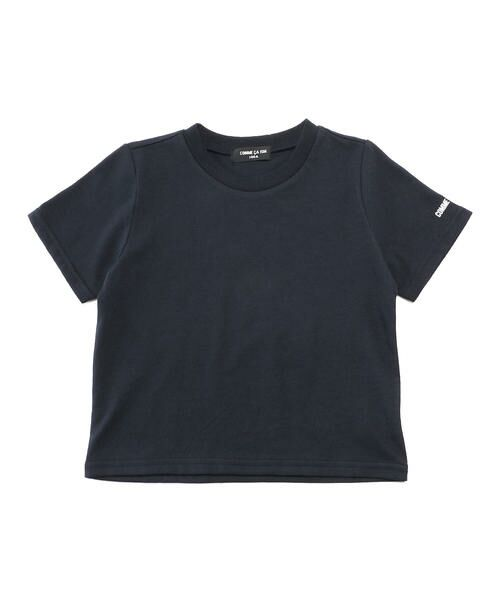 COMME CA ISM / コムサイズム Tシャツ | ベーシック 半袖Tシャツ(ネイビー)