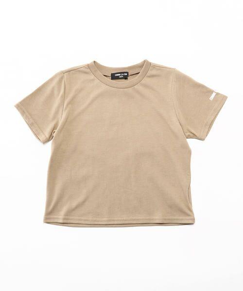 COMME CA ISM / コムサイズム Tシャツ | ベーシック 半袖Tシャツ(ベージュ)