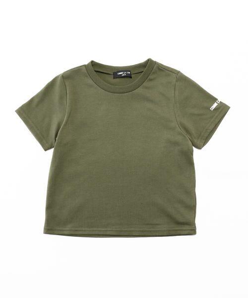 COMME CA ISM / コムサイズム Tシャツ | ベーシック 半袖Tシャツ(カーキ)