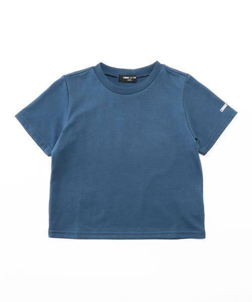 COMME CA ISM / コムサイズム Tシャツ | ベーシック 半袖Tシャツ(ブルー)