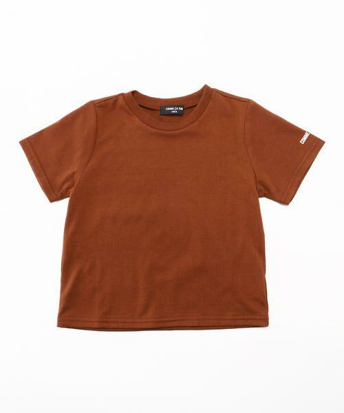 COMME CA ISM / コムサイズム Tシャツ | ベーシック 半袖Tシャツ(レンガ)