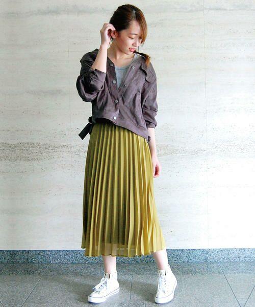 COMME CA ISM / コムサイズム ロング・マキシ丈スカート | シフォンプリーツスカート | 詳細3