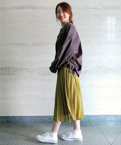 COMME CA ISM / コムサイズム ロング・マキシ丈スカート | シフォンプリーツスカート | 詳細4