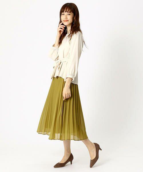 COMME CA ISM / コムサイズム ロング・マキシ丈スカート | シフォンプリーツスカート | 詳細5