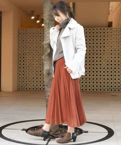 COMME CA ISM / コムサイズム ロング・マキシ丈スカート | シフォンプリーツスカート | 詳細6