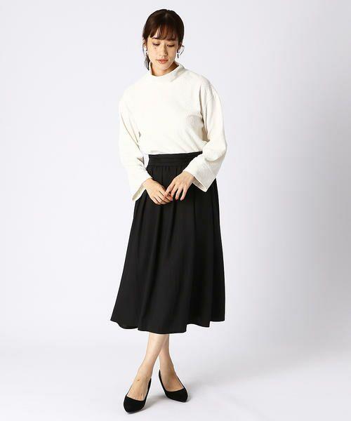 COMME CA ISM / コムサイズム ロング・マキシ丈スカート | ギャザースカート | 詳細1