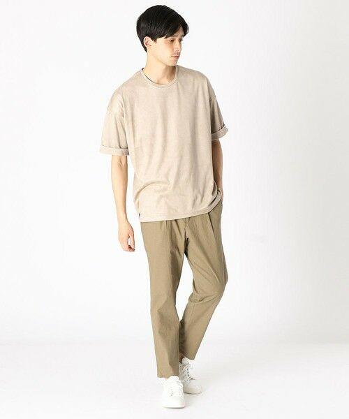 COMME CA ISM / コムサイズム Tシャツ | フェイクスエード ビッグTシャツ | 詳細2
