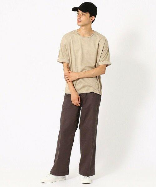COMME CA ISM / コムサイズム Tシャツ | フェイクスエード ビッグTシャツ | 詳細3