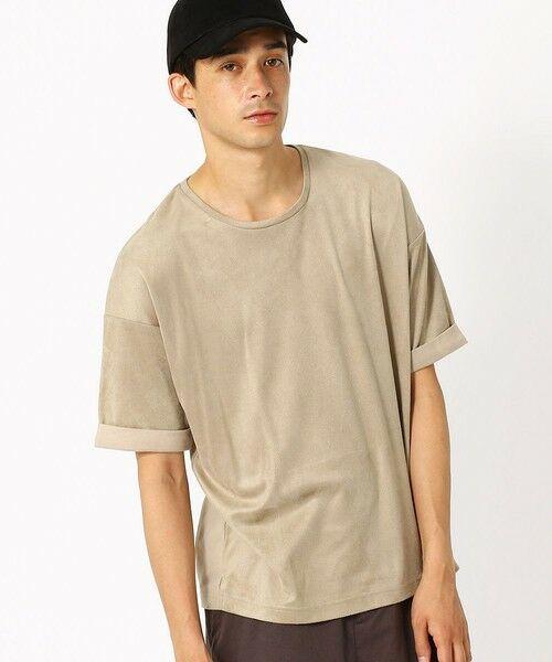 COMME CA ISM / コムサイズム Tシャツ | フェイクスエード ビッグTシャツ | 詳細7