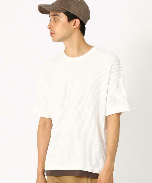 COMME CA ISM / コムサイズム Tシャツ | ワッフル ビッグTシャツ | 詳細2