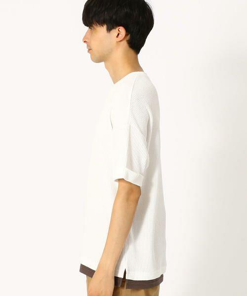 COMME CA ISM / コムサイズム Tシャツ | ワッフル ビッグTシャツ | 詳細3