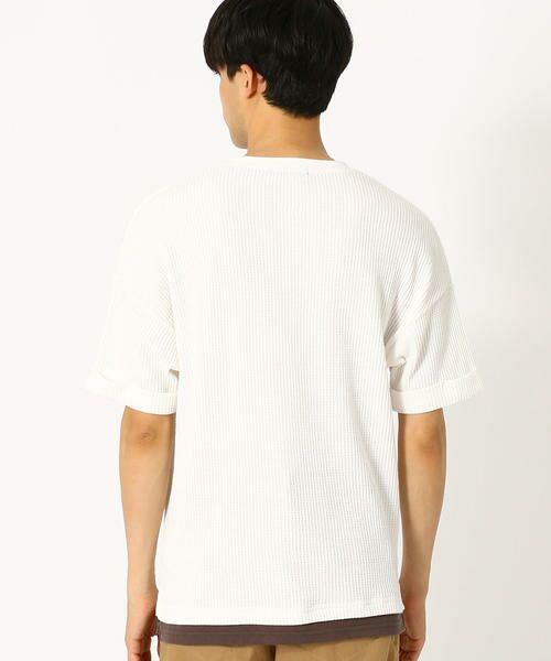 COMME CA ISM / コムサイズム Tシャツ | ワッフル ビッグTシャツ | 詳細4