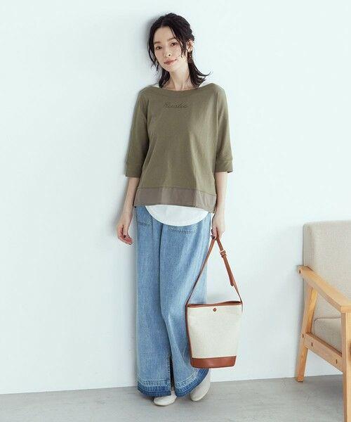 COMME CA ISM / コムサイズム Tシャツ | ロゴプリント セットTシャツ(ONIGIRI) | 詳細1