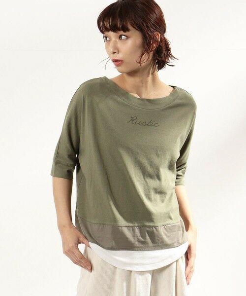 COMME CA ISM / コムサイズム Tシャツ | ロゴプリント セットTシャツ(ONIGIRI) | 詳細8