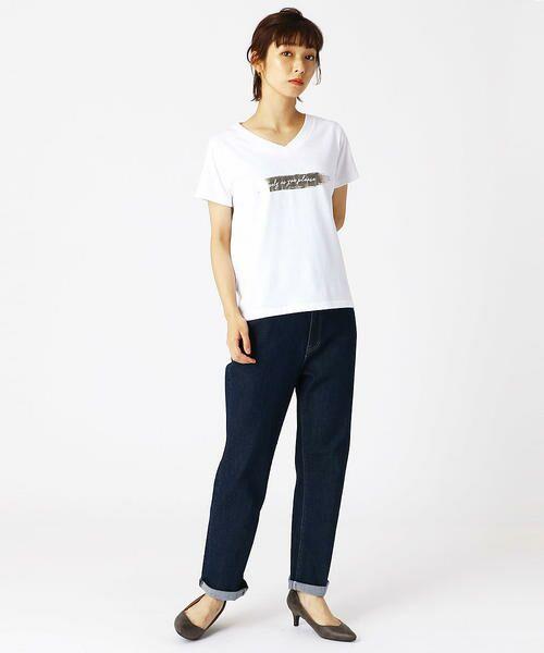 COMME CA ISM / コムサイズム Tシャツ | 箔プリントTシャツ | 詳細1