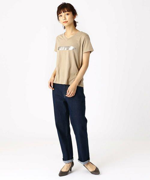COMME CA ISM / コムサイズム Tシャツ | 箔プリントTシャツ | 詳細3