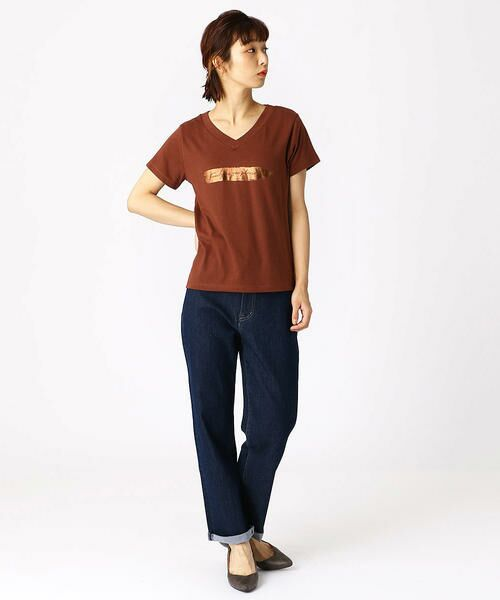 COMME CA ISM / コムサイズム Tシャツ | 箔プリントTシャツ | 詳細4