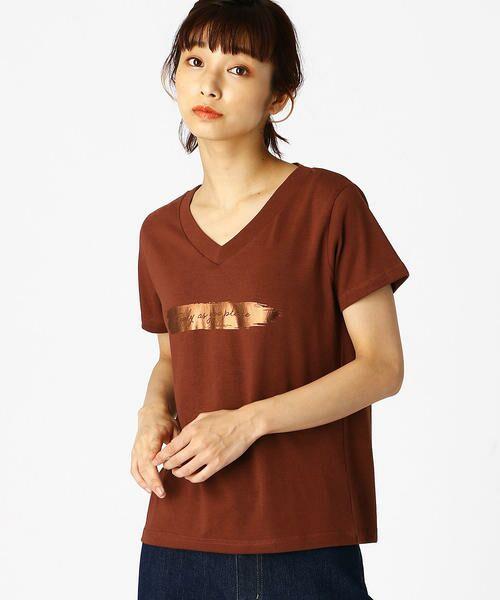 COMME CA ISM / コムサイズム Tシャツ | 箔プリントTシャツ | 詳細5