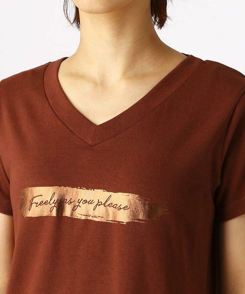 COMME CA ISM / コムサイズム Tシャツ | 箔プリントTシャツ | 詳細8