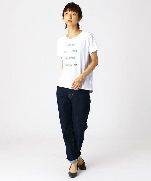 COMME CA ISM / コムサイズム Tシャツ   ロゴプリントTシャツ   詳細1