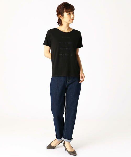 COMME CA ISM / コムサイズム Tシャツ   ロゴプリントTシャツ   詳細2