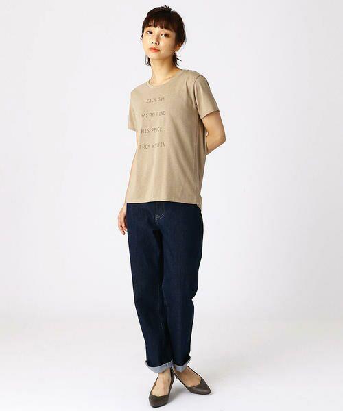 COMME CA ISM / コムサイズム Tシャツ   ロゴプリントTシャツ   詳細3