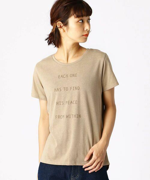 COMME CA ISM / コムサイズム Tシャツ   ロゴプリントTシャツ   詳細4